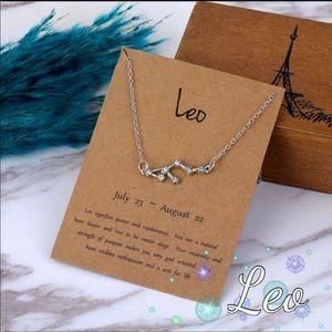 Jewelry - Leo Zodiac Constellation Necklace Silver